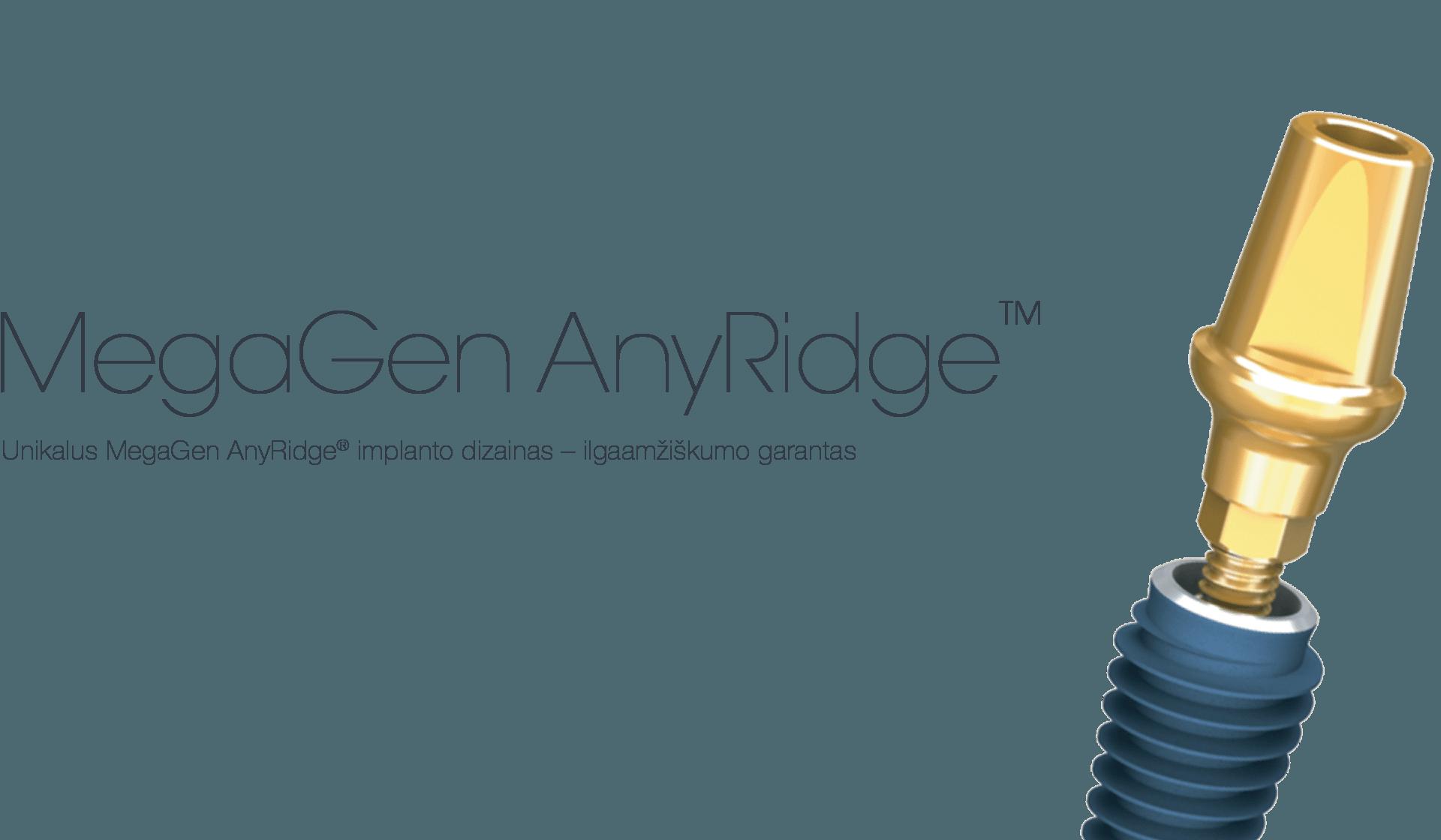 MegaGen AnyRidge implantai